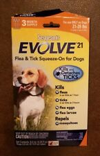 Sergeant's Evolve 21 Flea And Tick Squeeze-On 21 To 39-Pound Dog 3-Applications