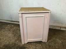 Vintage Wooden Laundry Storage Box with Cork Top