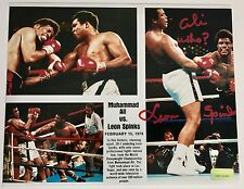 "LEON SPINKS SIGNED 8X10 INSCRIBED ""ALI WHO?"" COA INSCRIPTAGRAPHS 8X MUHAMMAD"