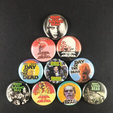 "George A Romero 1"" Button Pin Set Zombie Horror Night of the Living Dead Dawn"