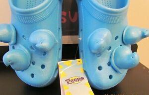 Crocs Classic Blue Peeps Slip-on Clog NOS Mens 10 or Womens 12 Easter Pack Mule
