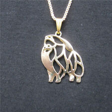 Pomeranian Dog Pendant Necklace Gold Plated ANIMAL RESCUE DONATION