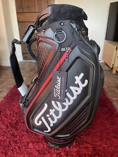 """Titleist Jet Black 9.5"""" Tour Staff Golf Bag with 5-way Dividers Brand New in Box"""