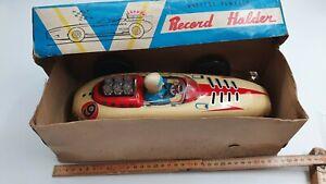 (see video) Tin Toy Modern Toys  Record Holder car -Original box-