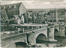 3g204  HANN. MÜNDEN Alte Werrabrücke Welfen Schloß top SW 25.4.1956 LK Göttingen