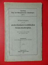 altes Heft über niederrheinisch westfälischen STEINKOHLENBERGBAU 1907 ( 15081