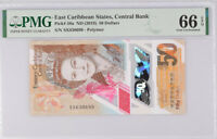 East Caribbean 50 Dollars ND 2019 P 58 Polymer Gem UNC PMG 66 EPQ New Label