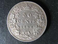 50 cents 1898 Canada Queen Victoria silver coin c ¢ half dollar VF-20