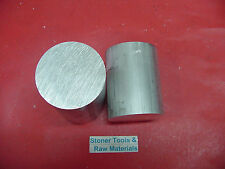 "2 Pieces 3"" ALUMINUM 6061 ROUND ROD 3.5"" long T6511 Solid Lathe Bar Stock 3.0""od"