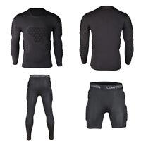 Men Sport Basketball Soccer Football Goalkeeper Foam Pad Jersey Top Bottom Pants