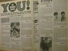 The Osmonds, Donny Osmond, Two Page Vintage Clipping, Brother
