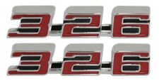 "1967 67 Firebird "" 326 "" Hood Emblem USA Pair New"