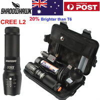20000lm Police Tactical Flashlight CREE XML L2 LED Zoom Military Torch 26650/AAA