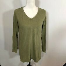 J Jill Women Tunic Top Tee Casual Shirt Size XS Olive Green Color-Washed - C228