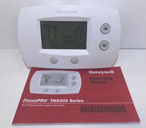 Honeywell FocusPRO 5000 Digital Thermostat - White Model Th5220d1003 ⭐️
