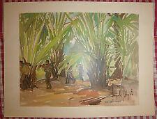 Vietnam Liberation War Art - A View of Binh Thuan - Viet Cong - 1966 - Vc - 25