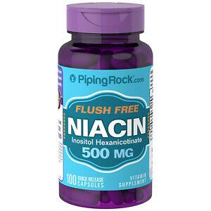 NIACINA 500 mg 100 Capsulas - Flush free sin enrojecimiento - Vitamina B3