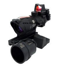 Combat Real Fiber Red illuminated 4x32 Scope&RMR On/OFF M.acog.raf & Killflash