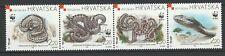 Croatia 1999 WWF Fauna Snakes 4 MNH stamps