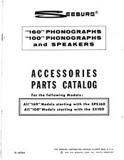Seeburg Accessories Parts Catalog 1979 100 and 160 Series (68 Pages)