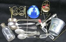 Lot of Collectible Doll Stuff Bottle Eye Glasses Baby Spoons