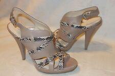 Calvin Klein Gene Brown SNAKE STRAPS SANDALS Shoes Size 11 M Heels NEW $119