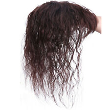 Clip in Kinky Curly 100% Human Hair Topper Hairpiece Top Toupee Bangs Extensions