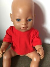 Dolls Clothes Handmade 43cm Baby Doll  ,Red   T Shirt