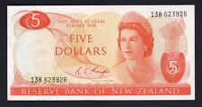 New Zealand  P-165c. (1975-77) Five Dollars. Knight..  Prefix 138. aU-UNC