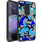 MetKase Hybrid Slim Phone Case Cover For Cricket Influence - BLUE STYLISH CAMO