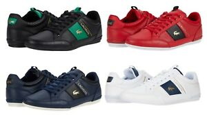 LACOSTE Chaymon 0120 1 Men's Casual Leather Fashion Shoes Sneakers Black White