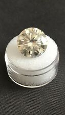 12.96ct VVS1 (15.57mm) AAA FANCY OFF WHITE YELLOW LOOSE MOISSANITE