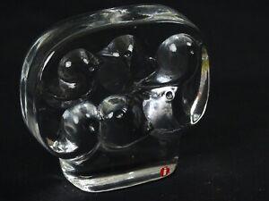 Scandinavian Art Glass Paperweight Iittala  Contemporary Bird Grouping in Nest