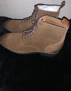 Men's Colehann brown lace up suede boots size 13
