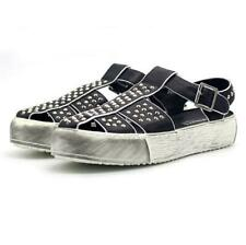 Men's Fashion Rivet Buckle Strap Roman Sandals Summer Leather Platfrom Shoes N75