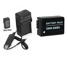 Battery +Charger for Panasonic DMW-BMB9 DMWBMB9 DMCFZ40 DMC-FZ150 DMC-FZ150K