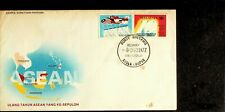 MALAYSIA 1977 10TH ANNIVERSARY OF ASEAN'S YEAR 2v ON KUALA LUMPUR CANCELLED FDC