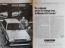 Publicité de presse (clipping) - Mazda 323