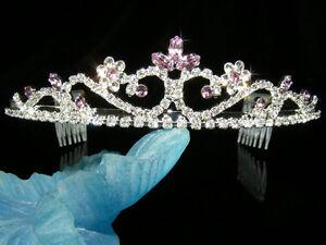 SALE Wedding Bridesmaid Prom Flower Girl Crystal Silver / Gold Plated Tiara 139