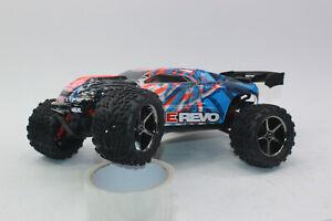 Traxxas 71054 -1 Orange 1:16 RC E-Revo 4x4 Rtr +12V Charger+Battery New Boxed