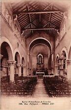 CPA PARIS 20e Eglise Notre-Dame de Lourdes Rue Pelleport (254715)