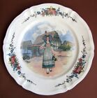 Ancien Plat 31,5 cm décor Alsace Obernai Loux en Faïence de Sarreguemines