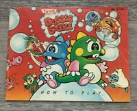 Bubble Bobble NES Instruction Manual Only