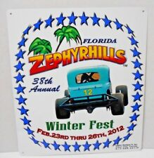 Zephyrhills Florida Winter Fest 38th Annual 2012 Metal Wall Sign Man Cave Decor