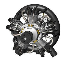 UMS 210cc Gas - 5 Cylinder Radial 4 Stroke Engine