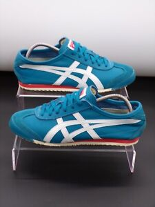 Asics Onitsuka Tiger Mexico 66 Men's Shoes Blue Leather Trainer UK 6.5 HL474
