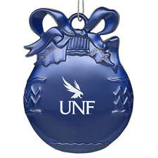 University of North Florida - Pewter Christmas Tree Ornament - Blue