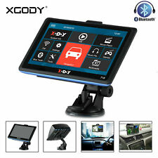 "XGODY 7"" GPS Navigation Bluetooth Touchscreen Sat Nav for Truck Car Motorhome"