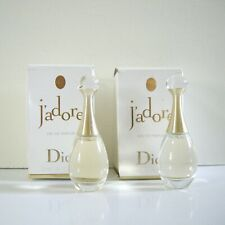 2x Christian Dior J'adore Eau de Parfum Splash 0.17 oz. / 5ml - MINI Travel size
