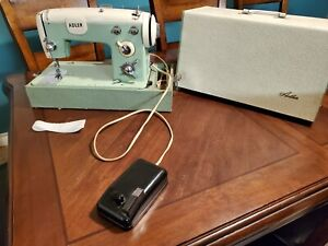 RARE Vintage Western Germany Adler 453A Sewing Machine Foot Pedal, cabinet WORKS